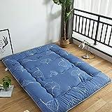 Lybfnn futon colchón tatami plegable algodón ecológico memory colchón con correas terten espuma japonés tradicional colchón futón antideslizante,b,120x200cm