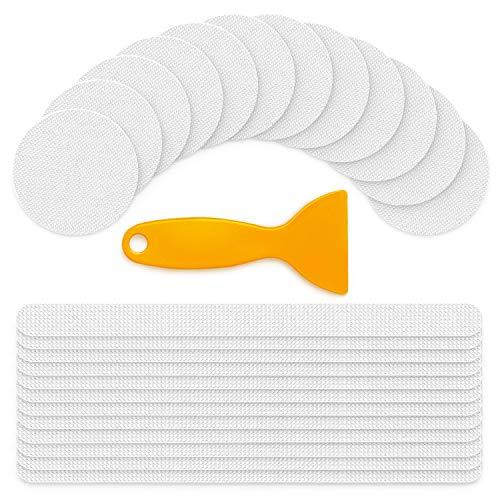 Ventvinal 24 Stück Anti Rutsch Sticker für Duschen und Badewannen, Transparent, Selbstklebend, Rutsch-Schutz (Runde&Lang)