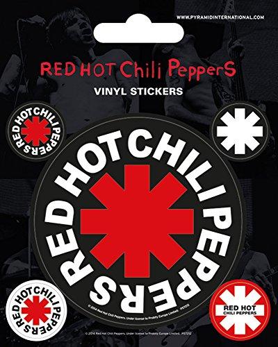 empireposter Red Hot Chili Peppers - Logo - Stickerset Set 5 Sticker Aufkleber - Grösse ca. 10x12,5 cm