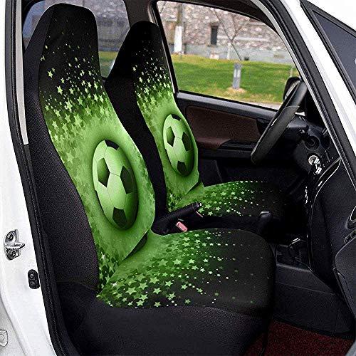 TABUE 2PCS Sport ball voetbal voorste schop auto stoelhoezen geschikt voor de meeste voertuigen, auto's, limousine, vrachtwagens, SUV