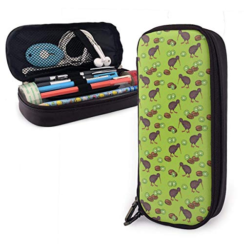 TYHYT astuccio Kiwi Birds and Kiwi Fruits Leather Pencil...