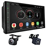 UGAR EX10-DSP 7' Android 10.0 Car Stereo 2GB 16GB with Front & Rear View Camera Head Unit Bluetooth WiFi Double Din Radio Car Audio Indash GPS Navigation Touch Screen