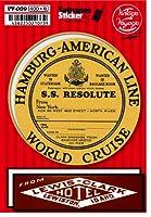 VV-009 Vintage Voyage-09 スーツケースステッカー ヴィンテージシリーズ