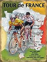 簡素な雑貨屋 Le Tour de France レトロ調 アメリカンブリキ看板