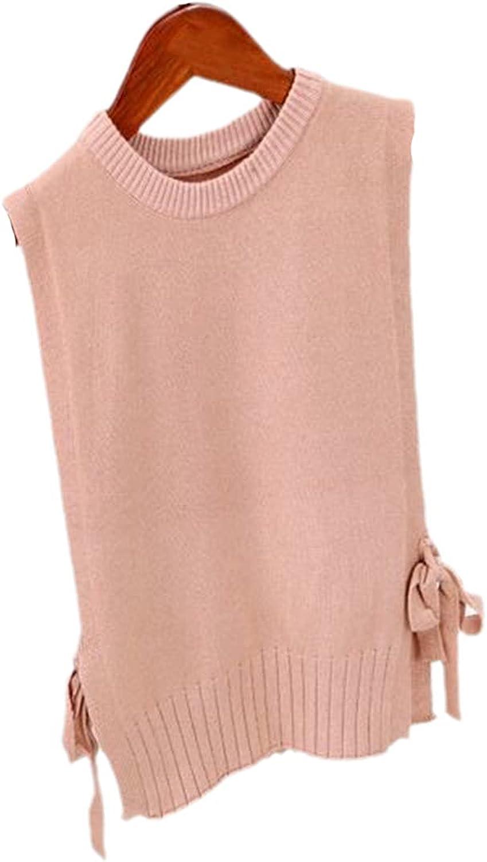 Yiqinyuan Children's Vest Autumn Solid Color Warm Girl's Knitted Vest Kids' Waistcoat Children's Vest Sweater Coat