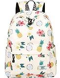 School Bookbags for Girls, Cute casual lightweight Pineapple Backpack College Bags Daypack Travel Bag by Mygreen (Beige)