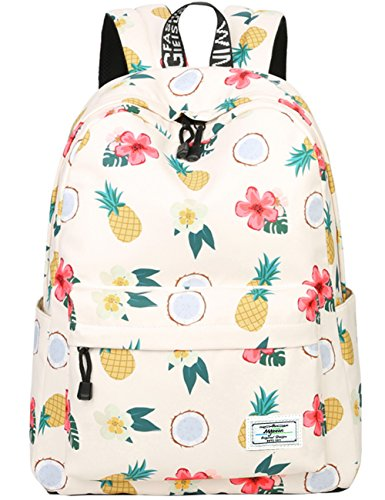 School Bookbags for Girls, Cute casual lightweight Pineapple Backpack College Bags Daypack...