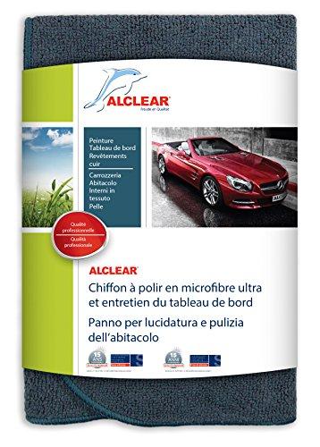 ALCLEAR A257343 Chiffon à Polir en Microfibre Ultra et Entretien du Tableau de Bord, Anthracite, 40x40 cm