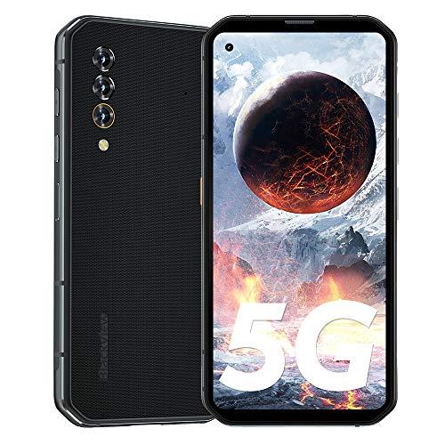 Blackview BL6000 Pro 【5G】 Outdoor Smartphone ohne Vertrag 8GB RAM 256GB, 6,36 Zoll FHD+, 48MP KI-Dreifachkamera, 5280mAh Akku Dual SIM Android 10 Handy - 2 Jahre Garantie - Schwarz [Globale Version]