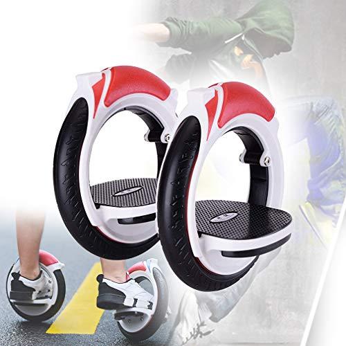 Skateboard Monoruota Portatile,Freeline Skates Adulti Autobilanciato Pattini ABS Ruote in PU Sport Tempo per Giovani Principiante