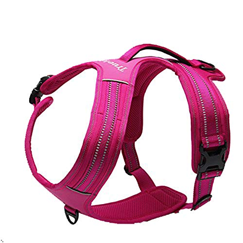 TRUE LOVE Reflective Dog Harness with Handle Soft Padded No-Pull Pet Vest, Durable Oxford Outer Layer for Large Breeds Truelove TLH5551