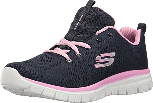 Skechers Women 12615 Low-Top Trainers, Blue (Navy/Pink), 5 UK (38 EU)