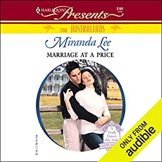 Marriage at a Price audiobook cover art