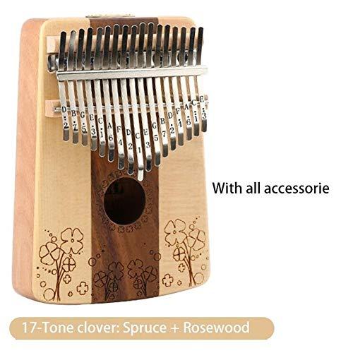 Buy Bargain Portable 17 Keys Thumb Piano Finger 17 Tones Portable Piano Wood Mahogany Body Musical I...