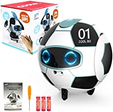 PP PICADOR Robot Toy for Kids, Voice Interactive Smart Control Soccer Robot, Touch Deformation Sensor Robotics with LED Eyes,Walking,Singing,Dancing, for Boys Girls