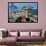 IFUNEW Der Kunstdruck Rio De Janeiro Corcovado Cristo