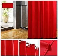 シャワーカーテンのバスルームのタッチファッショナブルなスタイルの厚い暖かい自然なモノクロベージュグリーン赤中国スタイル マルチサイズオプション (Color : C, Size : 200*150)