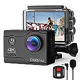 COOAU 4K Camara Deportiva Webcam 20MP WiFi Underwater 40M Puede usarse...