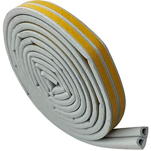 ちくさ 隙間テープ 防音・すき間風や虫の侵入防止 3m×2本 選べる厚さ・カラー (厚さ7.5mm・灰色)
