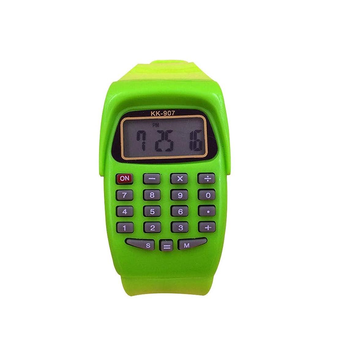 ガス橋脚靄ZKxl8ca 子供用腕時計 電卓 スポーツ デジタル 正方形 検査ツール 子供 ギフト
