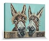 1art1 Esel - Doppelpack, Louise Brown Poster Leinwandbild