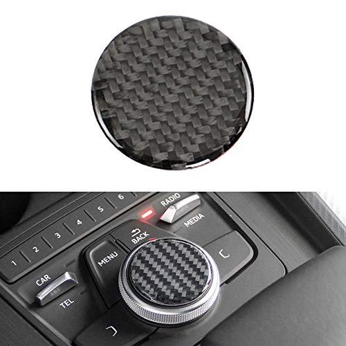 SBCX Car Center Console Multi Media Knob Switch Button Cover Trim Sticker, para Audi A4L A4 2017 2018