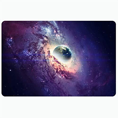 Indoor Bad Teppich für Badezimmer rutschfeste Matten Nebel Stern Galaxie Space Fi Universum Satellit Schwarzes Loch Planetarium Wissenschaft Solar Abstract View Badedusche Fußmatte Gummimatte