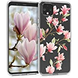 Clear Case Compatible with Google Pixel 4 - TPU Smartphone Backcover - Magnolias