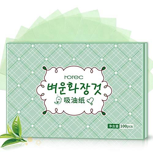 100PCS Protable Gesichts Saugpapier Oil Control Wipes Grüner Tee Absorbieren Blatt Matcha Fettige Sommer Gesichtsreinigungswerkzeug