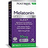 Natrol Advanced Sleep Melatonin Tablets, Maximum Strength 10 mg 60 ea ( Pack of 4)