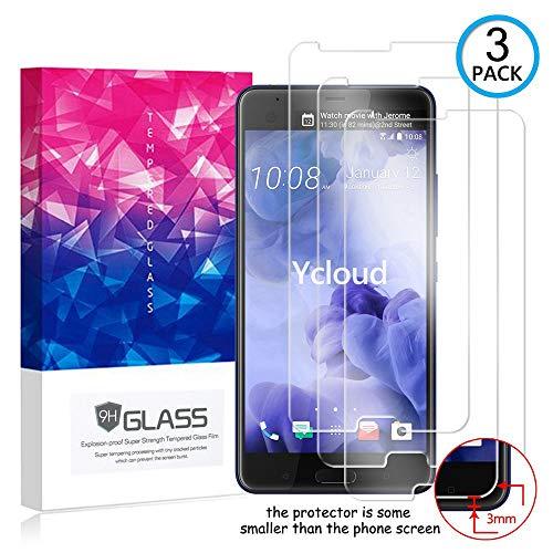 Ycloud [3 Pack] Protection écran pour HTC U Ultra, [9H Hardness, Anti-Rayures] Verre Trempé Protecteur d'écran Screen Protector, Appliquer à pour HTC U Ultra