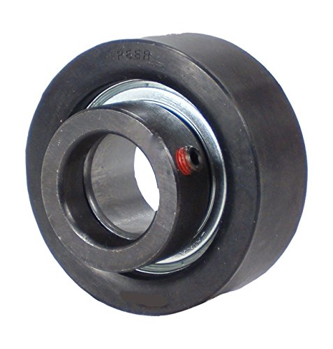 Peer Bearing LRCSM-19L Rubber/Cast Iron Cartridge Unit, Narrow Inner Ring, Eccentric Locking Collar, Single Lip Seal, 1-3/16