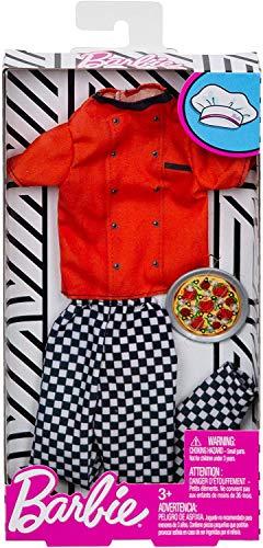 Mattel Barbie Ken Mode - Juego completo de cocina y panadero de pizza compatible con Barbie