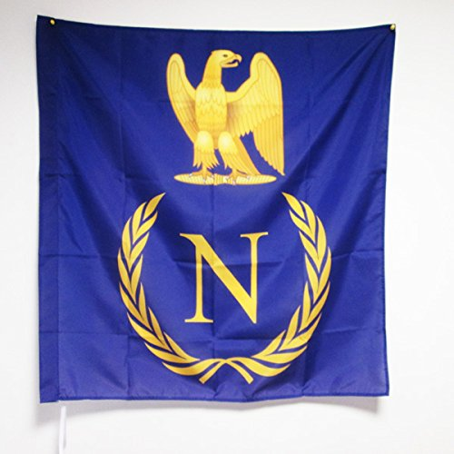 AZ FLAG Shield Napoleon Bonaparte of France Flag 3' x 3' for a Pole - French Empire Flags 90 x 90 cm - Banner 3x3 ft with Hole