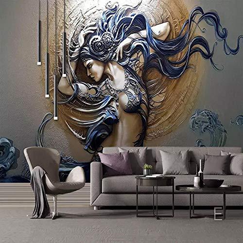 Fotobehang 3D Fashion Art Non-Woven Premium Art Print Fleece muur muurschildering Poster voor Woonkamer TV Achtergrond Muur 78.74x59 inch