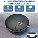 Alician Robot Vacuum Cleaner Strong Suction Intelligent Sweeping Mopping with Timer Function Black