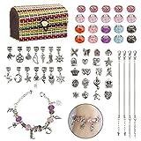 K kumeed - Set di 4 braccialetti per bambine e ragazze, in argento, con cofanetto perfetto regalo per ragazze 8-12 anni e ragazze