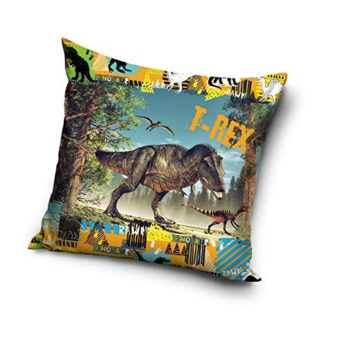 Une T-Rex Dinos Dinosaurier Kissenhülle Kissenbezug 40x40 cm (TREX 203001)