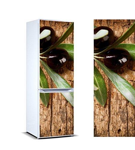 Oedim Stickers Autocollants Frigo Branche d'olivier Olives Noires Mesure 185 x 60 cm | Vinyle Adhésif Résistant et Facile d'appliquer | Étiquette Adhésive Décorative d'une Conception élégante |