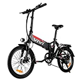 VIVI Folding Electric Bike, 20'' Electric Bicycle 350W City Commuter Ebike, Electric Bike for Adults with Removable 36V 8Ah Battery, Shimano 7 Speed Gear, Full Suspension Electric Bicycle