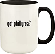 got phillyrea? - 15oz Ceramic Colored Handle and Inside Coffee Mug Cup, Black