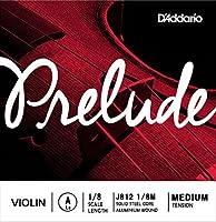 D'Addario バイオリン弦 バラ Prelude 2弦 A(La) J812 1/8M【国内正規品】