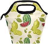 Bolsa de almuerzo Verano Sandía Patrón de limón Fiambrera aislada Bolsa térmica portátil Contenedor de alimentos Enfriador Reutilizable