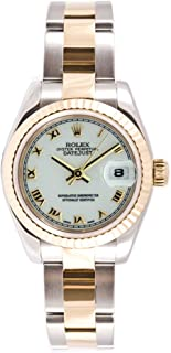 Ladys 179173 Datejust Steel & 18k Gold, Oyster Band, Fluted Bezel & White Roman Dial