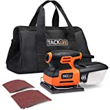 Palm Sander, TACKLIFE 1/4 Sheet Sander, 2.2A Sander with Copper Motor, Dust-proof Switch, Soft Rubber Protection, Sander Machine for DIY Sanding PSS01A