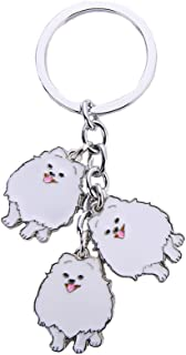 BBEART Dog Keychain, Pet Pendant Key-Ring, Cute Puppy ID Tags Metal Key Ring for Dog Lover