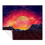 DIYOF Manta de microfibra para todas las estaciones, set de sol abstracto (150 x 130 cm).