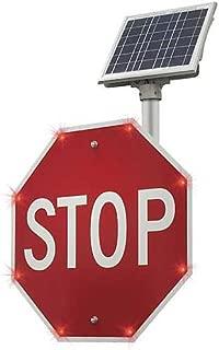 Tapco R1-1 BlinkerStop Aluminum Octagon Solar Sign, Legend