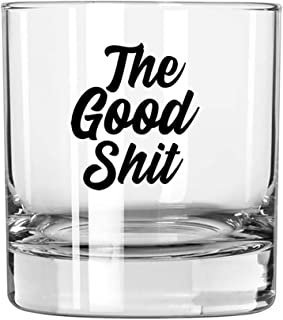 """Whiskey Gifts Funny - Rocks Glass""""The Good Stuff"""" - Gift for Men, Him, Old Fashioned, Scotch, Cocktail, Brother, Bourbon L..."""