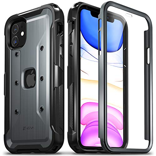 """Vena vArmor PRO Full Body Protection Case Compatible with Apple iPhone 11 (6.1""""-inch 2019), (Military Grade) Heavy Duty Rugged Cover with Built-in Screen Protector - Space Gray"""